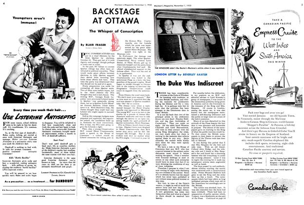 Article Preview: The Duke Was Indiscreet, November 1950 | Maclean's