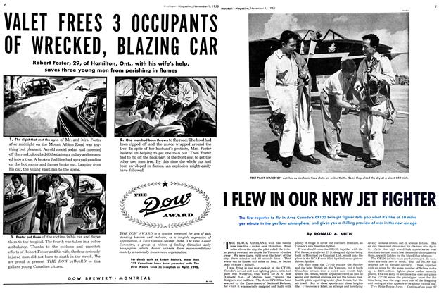 Article Preview: I FLEW IN OUR NEW JET FIGHTER, November 1950 | Maclean's