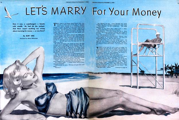Article Preview: LET'S MARRY For Your Money, November 1950 | Maclean's