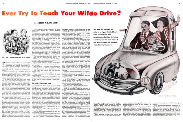 Article Preview: Ever Try to Teach Your Wife to Drive?, November 1950 | Maclean's