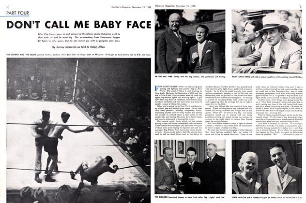 Article Preview: DON'T CALL ME BABY FACE, November 1950 | Maclean's