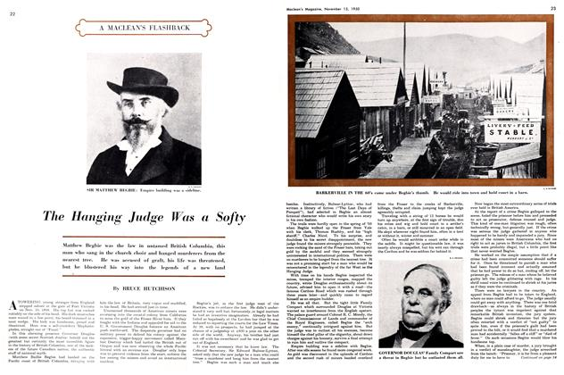 Article Preview: The Hanging Judge Was a Softy, November 1950 | Maclean's