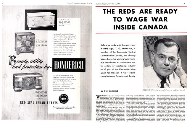 Article Preview: THE REDS ARE READY TO WAGE WAR INSIDE CANADA, November 1950 | Maclean's