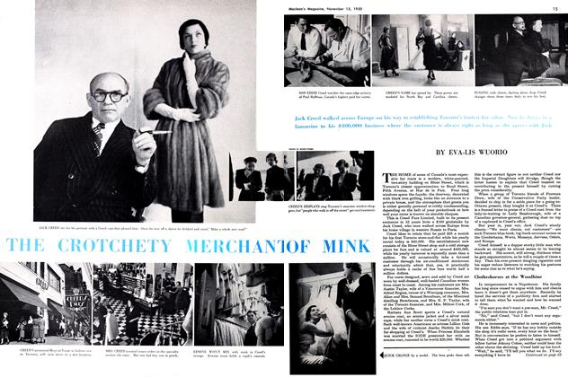 Article Preview: THE CROTCHETY MERCHANT OF MINK, November 1950 | Maclean's