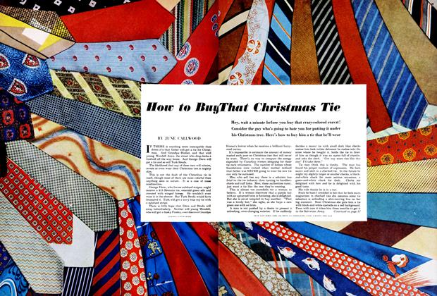 Article Preview: How to Buy That Christmas Tie, December 1950 | Maclean's