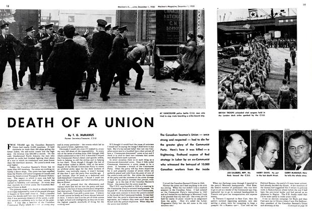 Article Preview: DEATH OF A UNION, December 1950 | Maclean's