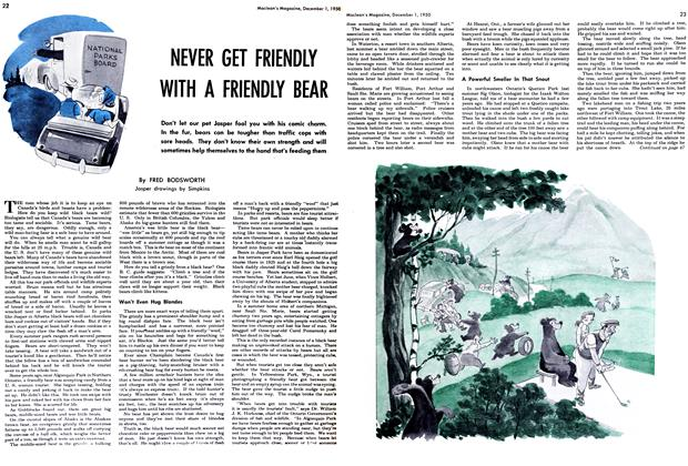 Article Preview: NEVER GET FRIENDLY WITH A FRIENDLY BEAR, December 1950 | Maclean's