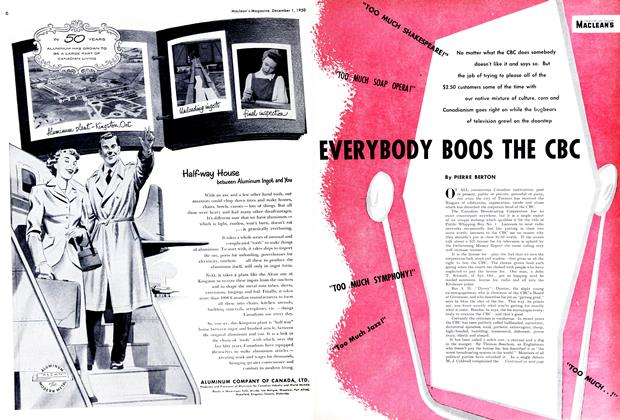 Article Preview: EVERYBODY BOOS THE CBC, December 1950 | Maclean's