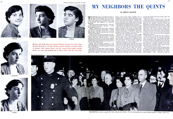 Article Preview: MY NEIGHBORS THE QUINTS, December 1950 | Maclean's