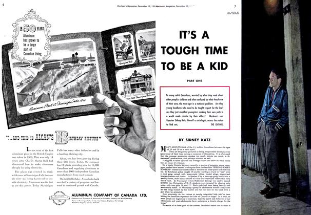 Article Preview: IT'S A TOUGH TIME TO BE A KID, December 1950 | Maclean's