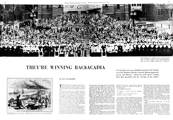 Article Preview: THEY'RE WINNING BACK ACADIA, December 1950 | Maclean's