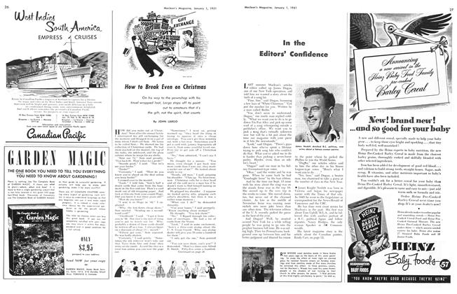 Article Preview: How to Break Even on Christmas, January 1951 | Maclean's