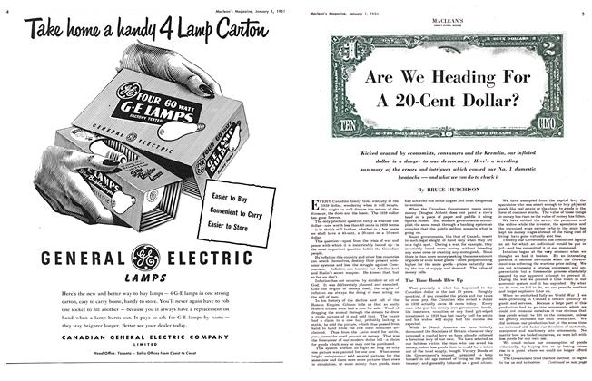 Article Preview: Are We Heading For A 20-Cent Dollar?, January 1951 | Maclean's