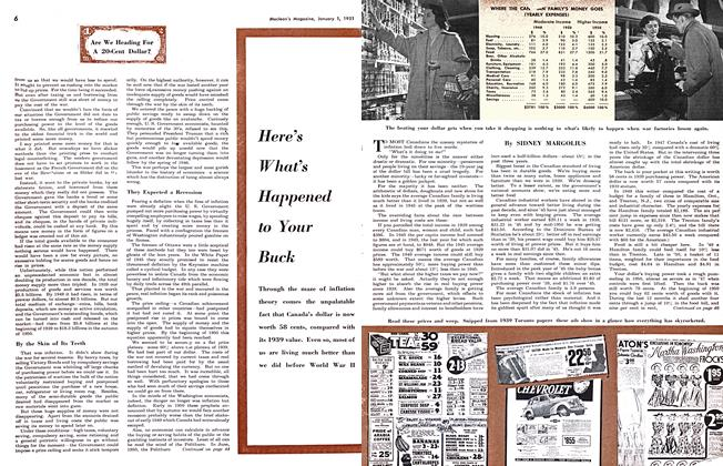 Article Preview: Here's What's Happened to Your Buck, January 1951 | Maclean's