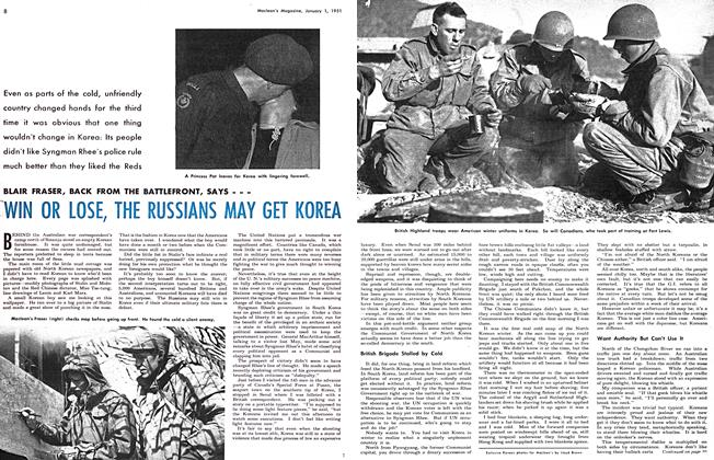 Article Preview: WIN OR LOSE, THE RUSSIANS MAY GET KOREA, January 1951 | Maclean's