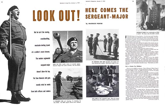 Article Preview: LOOK OUT! HERE COMES THE SERGEANT-MAJOR, January 1951 | Maclean's