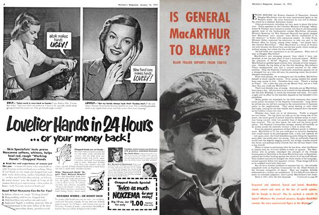 Article Preview: IS GENERAL MacARTHUR TO BLAME?, January 1951 | Maclean's