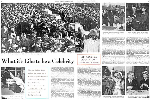 Article Preview: What it's Like to be a Celebrity, January 1951 | Maclean's