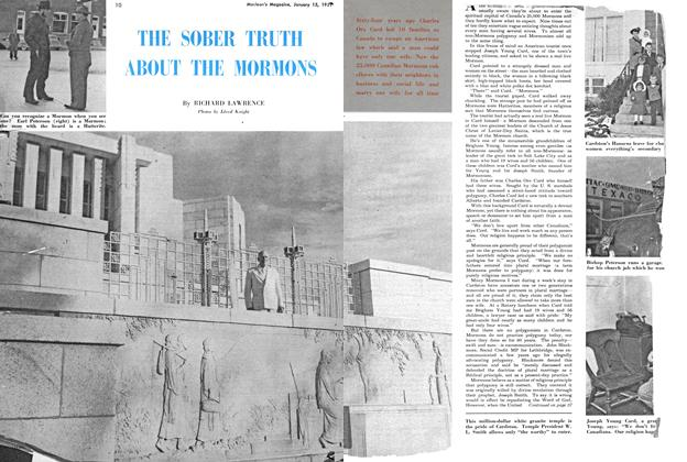 Article Preview: THE SOBER TRUTH ABOUT THE MORMONS, January 1951 | Maclean's