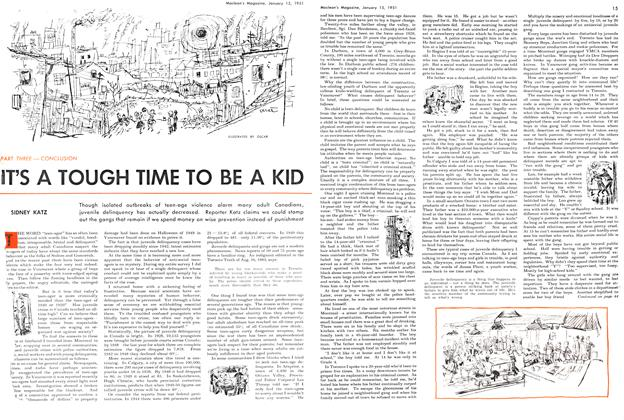 Article Preview: IT'S A TOUGH TIME TO BE A KID, January 1951 | Maclean's