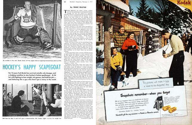 Article Preview: HOCKEY'S HAPPY SCAPEGOAT, February 1951 | Maclean's