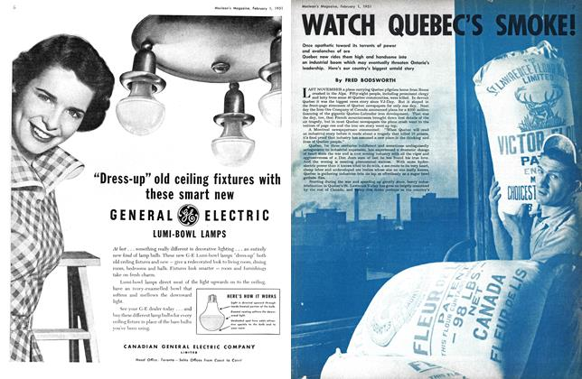 Article Preview: WATCH QUEBEC'S SMOKE!, February 1951 | Maclean's