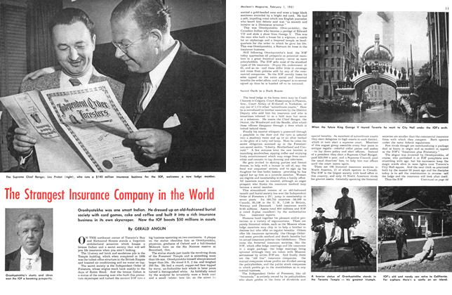 Article Preview: The Strangest Insurance Company in the World, February 1951 | Maclean's