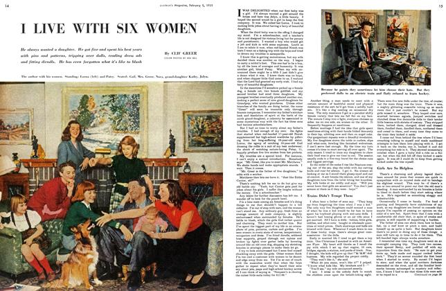 Article Preview: I LIVE WITH SIX WOMEN, February 1951 | Maclean's