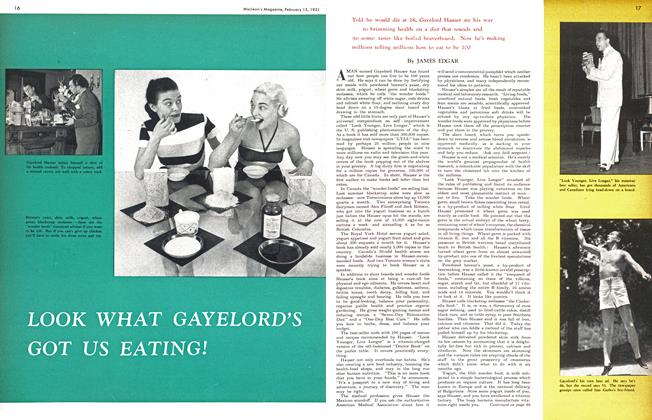 Article Preview: LOOK WHAT GAYELORD'S GOT US EATING!, February 1951 | Maclean's