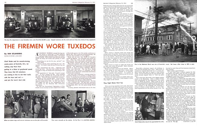 Article Preview: THE FIREMEN WORE TUXEDOS, February 1951 | Maclean's