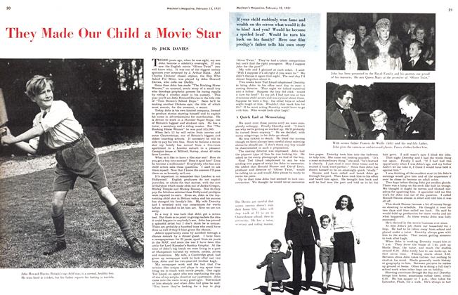 Article Preview: They Made Our Child a Movie Star, February 1951 | Maclean's