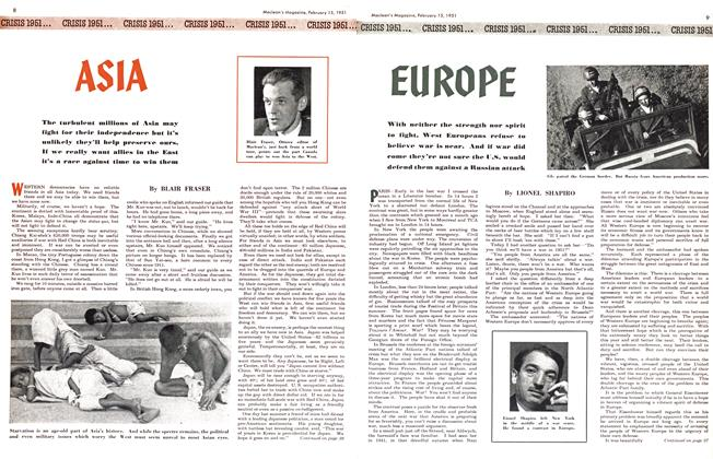 Article Preview: EUROPE, February 1951 | Maclean's