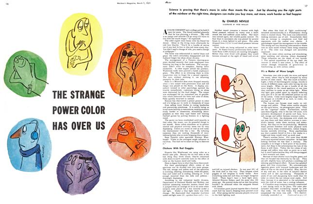 Article Preview: THE STRANGE POWER COLOR HAS OVER US, March 1951 | Maclean's