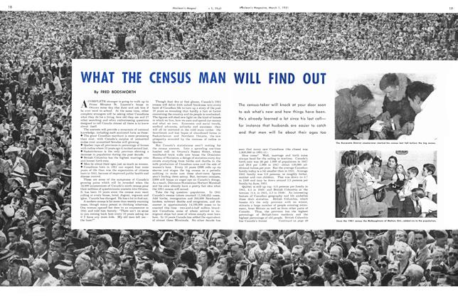 Article Preview: WHAT THE CENSUS MAN WILL FIND OUT, March 1951 | Maclean's