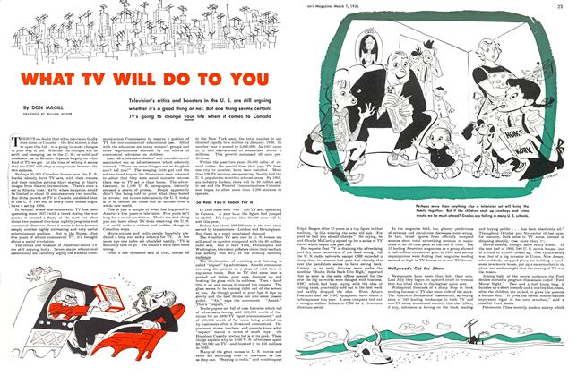 Article Preview: WHAT TV WILL DO TO YOU, March 1951 | Maclean's
