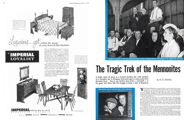 Article Preview: The Tragic Trek of the Mennonites, March 1951 | Maclean's