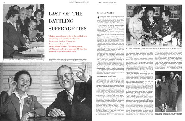 Article Preview: LAST OF THE BATTLING SUFFRAGETTES, March 1951 | Maclean's