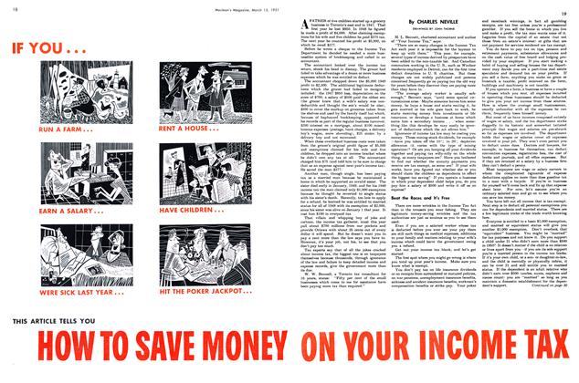 Article Preview: HOW TO SAVE MONEY ON YOUR INCOME TAX, March 1951 | Maclean's