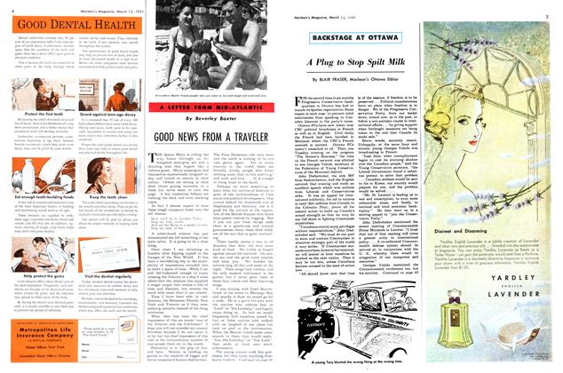 Article Preview: GOOD NEWS FROM A TRAVELER, March 1951 | Maclean's