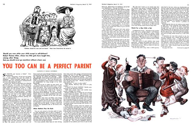 Article Preview: YOU TOO CAN BE A PERFECT PARENT, March 1951 | Maclean's