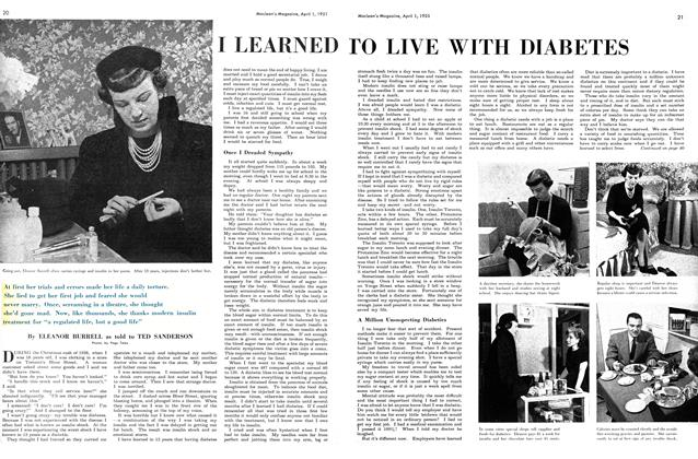 Article Preview: I LEARNED TO LIVE WITH DIABETES, April 1951 | Maclean's