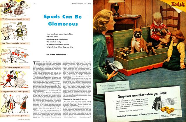 Article Preview: Spuds Can Be Glamorous, April 1951 | Maclean's