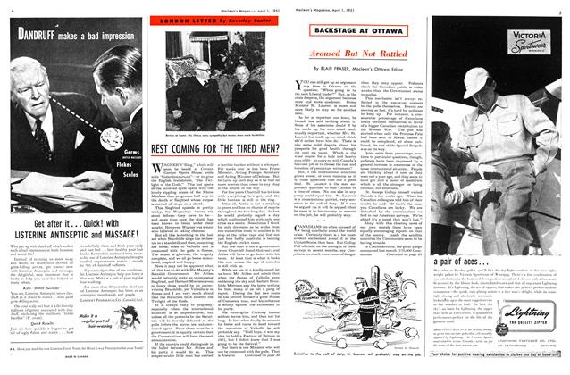 Article Preview: REST COMING FOR THE TIRED MEN?, April 1951 | Maclean's