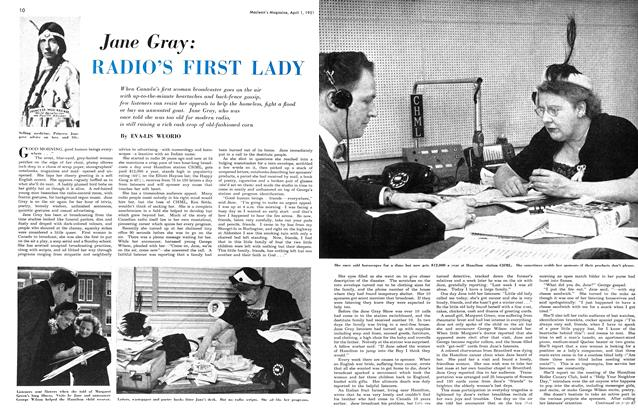 Article Preview: Jane Gray: RADIO'S FIRST LADY, April 1951 | Maclean's