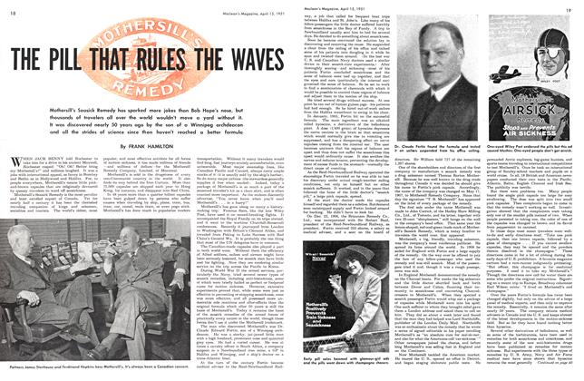 Article Preview: THE PILL THAT RULES THE WAVES, April 1951 | Maclean's