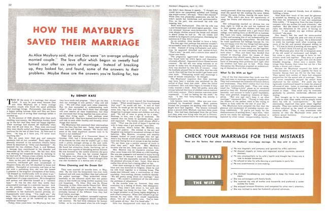 Article Preview: HOW THE MAYBURYS SAVED THEIR MARRIAGE, April 1951 | Maclean's