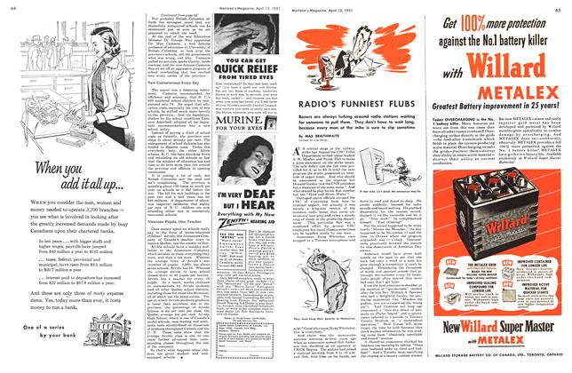 Article Preview: RADIO'S FUNNIEST FLUBS, April 1951 | Maclean's