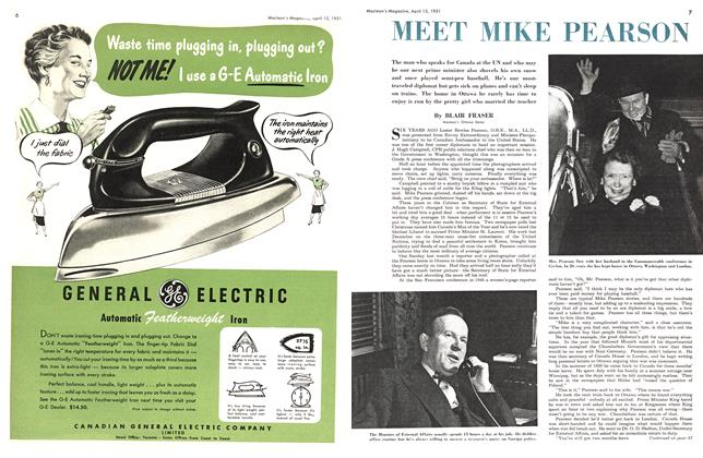 Article Preview: MEET MIKE PEARSON, April 1951 | Maclean's