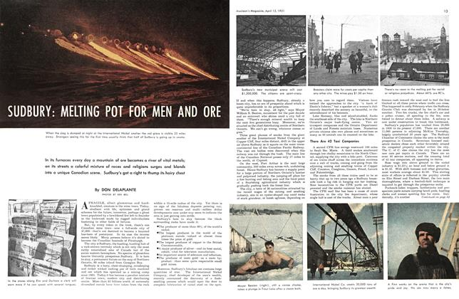 Article Preview: SUDBURY:MELTING POT FOR MEN AND ORE, April 1951 | Maclean's