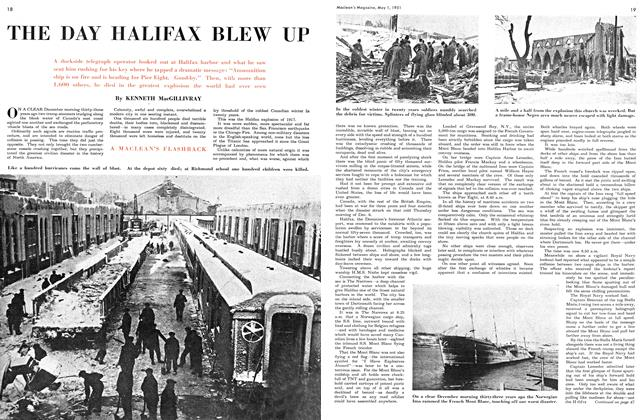Article Preview: THE DAY HALIFAX BLEW UP, May 1951 | Maclean's